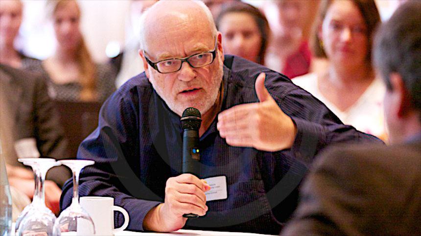 Manfred Schmidt, Geschäftsführer der Mitteldeutschen Medienförderung (MDM) beim Filmsommer Sachsen 2014 in Leipzig